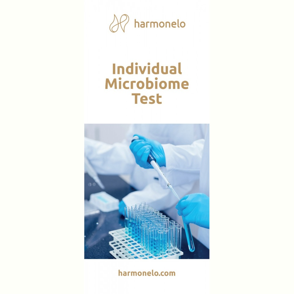 Advertising roll-up microbiome test